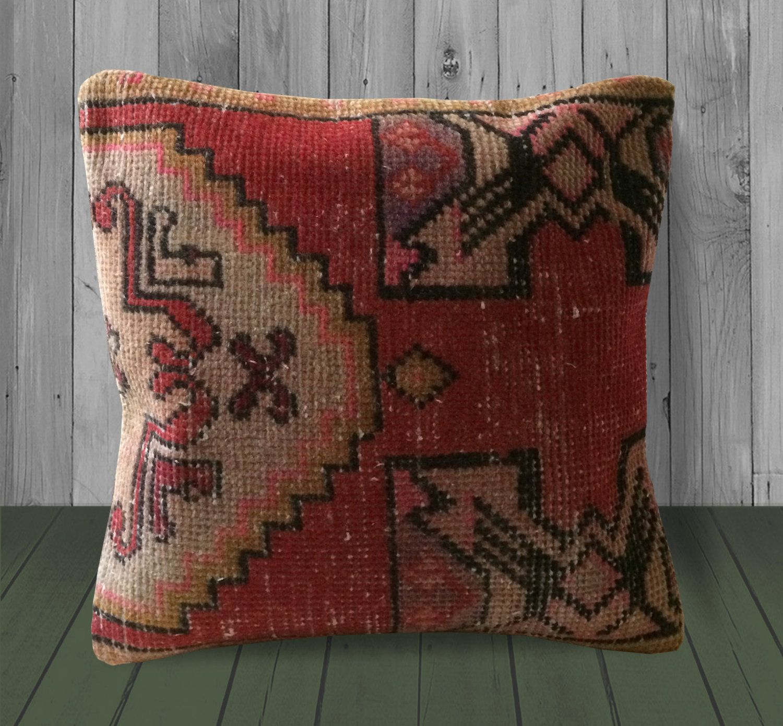 wool kilim pillow tribal couch cushion