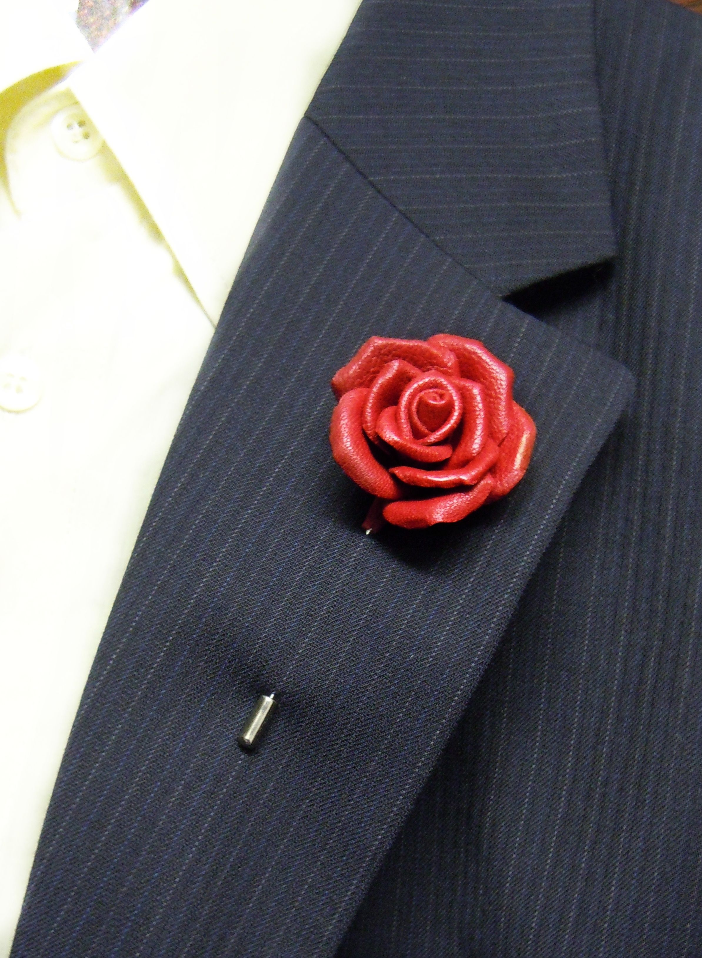 Red rose Lapel flower pin Leather Flower brooch pin Grooms boutonniere Man lapel  pin Wedding lapel pin Leather lapel pin Lapel Red rose by SummerInYourHome  ... bc7b07e86