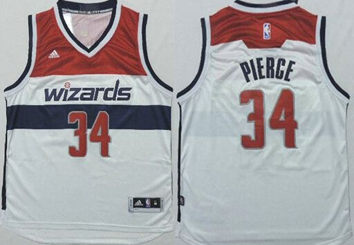 detailed pictures 8be93 6a306 Washington Wizards #34 Paul Pierce Revolution 30 Swingman ...