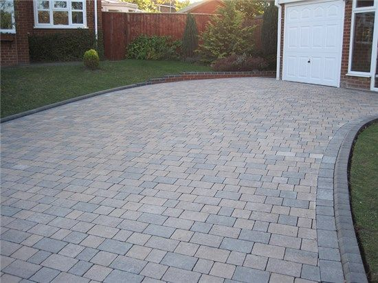 Curved Driveway Nice Modern Colours With Nice Edging