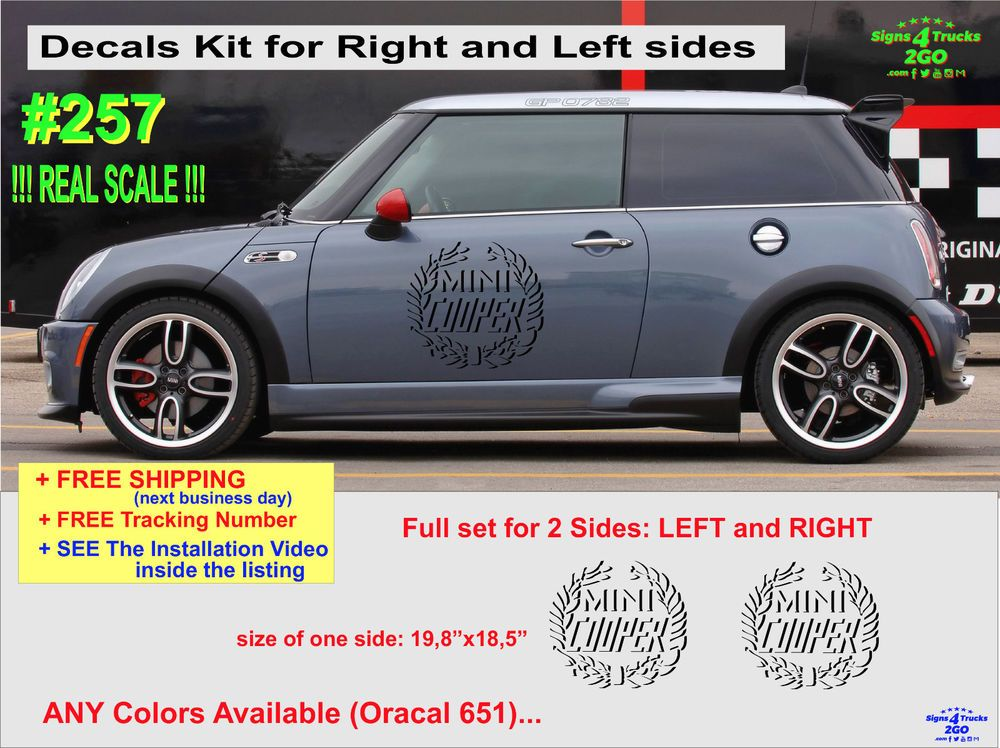 Details About 0253 Splash Kit Vinyl Decal Graphic Side Mini Cooper