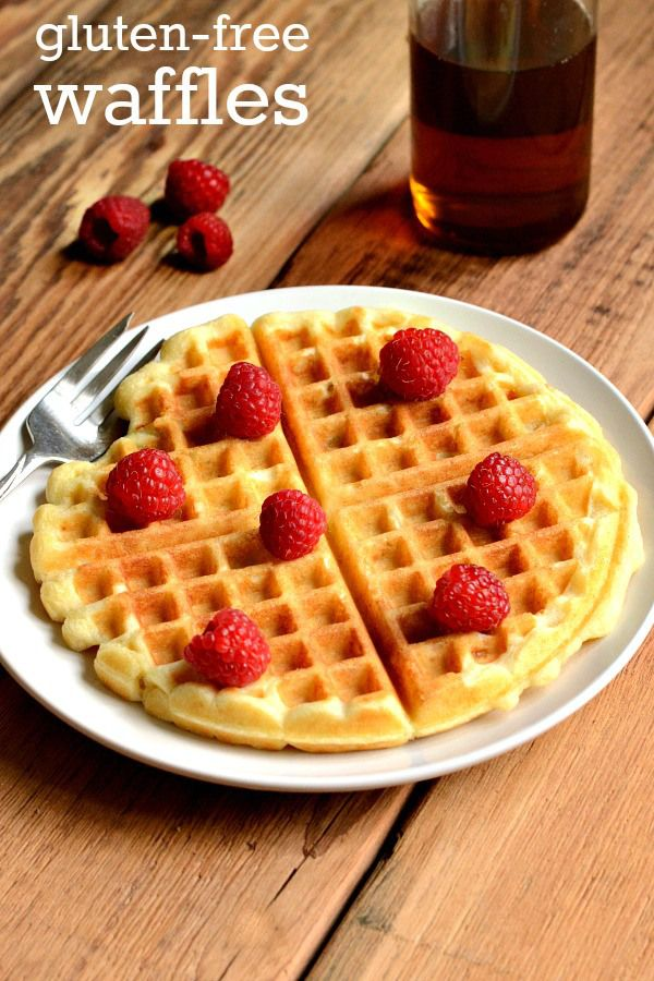 These gluten-free waffles are a delicious, healthy breakfast recipe that kids and adults will love. Such a treat for a weekend morning!