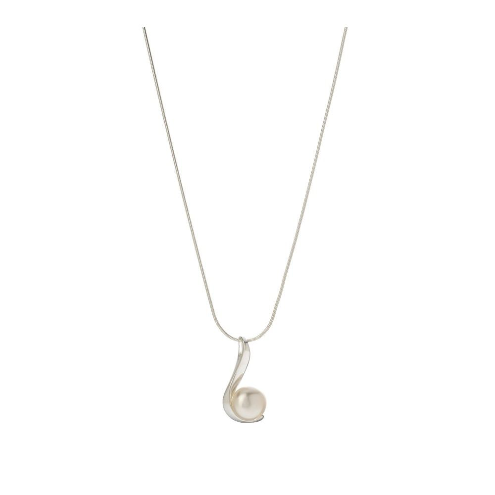John Greed Silver & Pearl Chic Shimmer Necklace | John Greed Jewellery