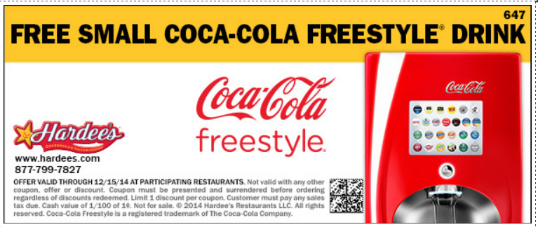 photo regarding Coca Cola Printable Coupons known as Free of charge Minimal Coke at Hardees Freebies No cost printable