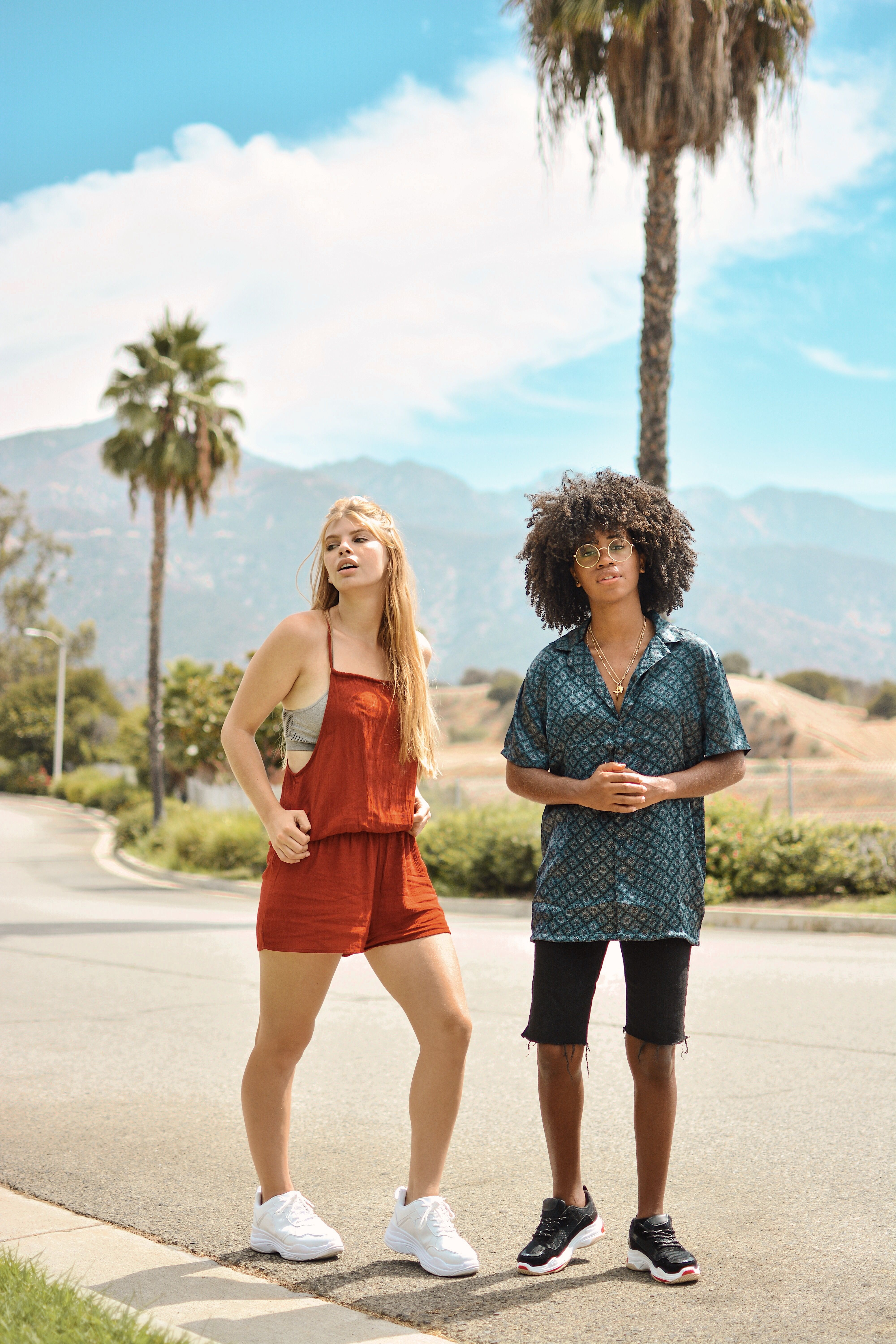 Lifestyle bloggers The Angelinos wearing Boohoo in Los Angeles