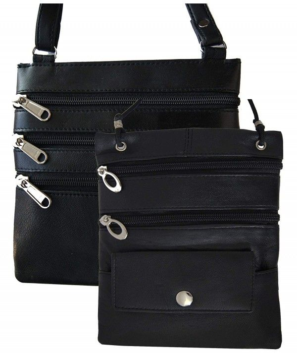Leather Travel 2 Neck Pouch Holders Passport Id Wallet Security Bag ... 5108b7905