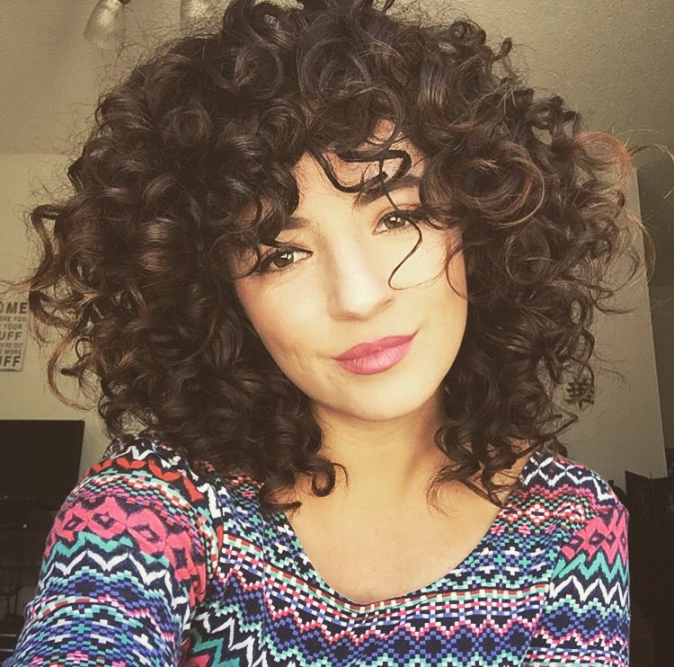 Short Curly Hair With Bangs And Layers 68