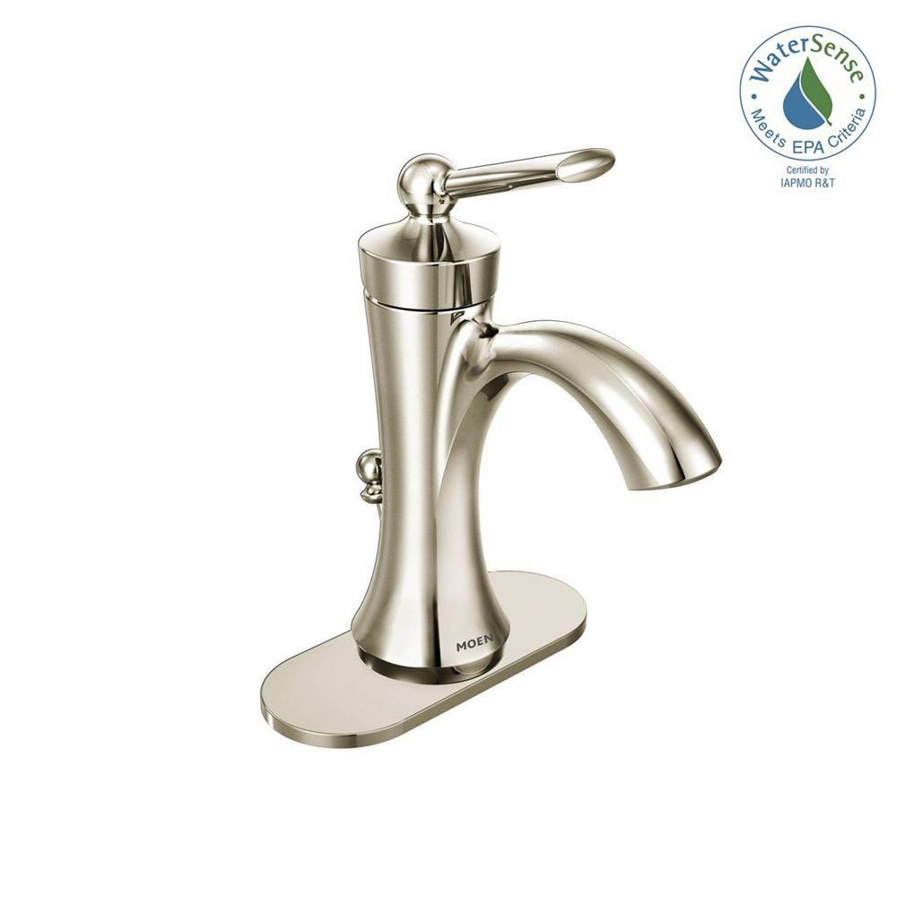 Moen Wynford Single Hole Single Handle High Arc Bathroom Faucet In