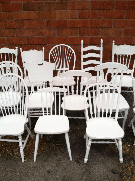 Dining Chairs Mismatch Vintage Chair Sets Vintagethepaintedldy Fascinating Restaurant Dining Room Furniture Decorating Design