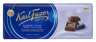 FC 401860 Karl Fazer Blueberry Yoghurt Crisp 190 g