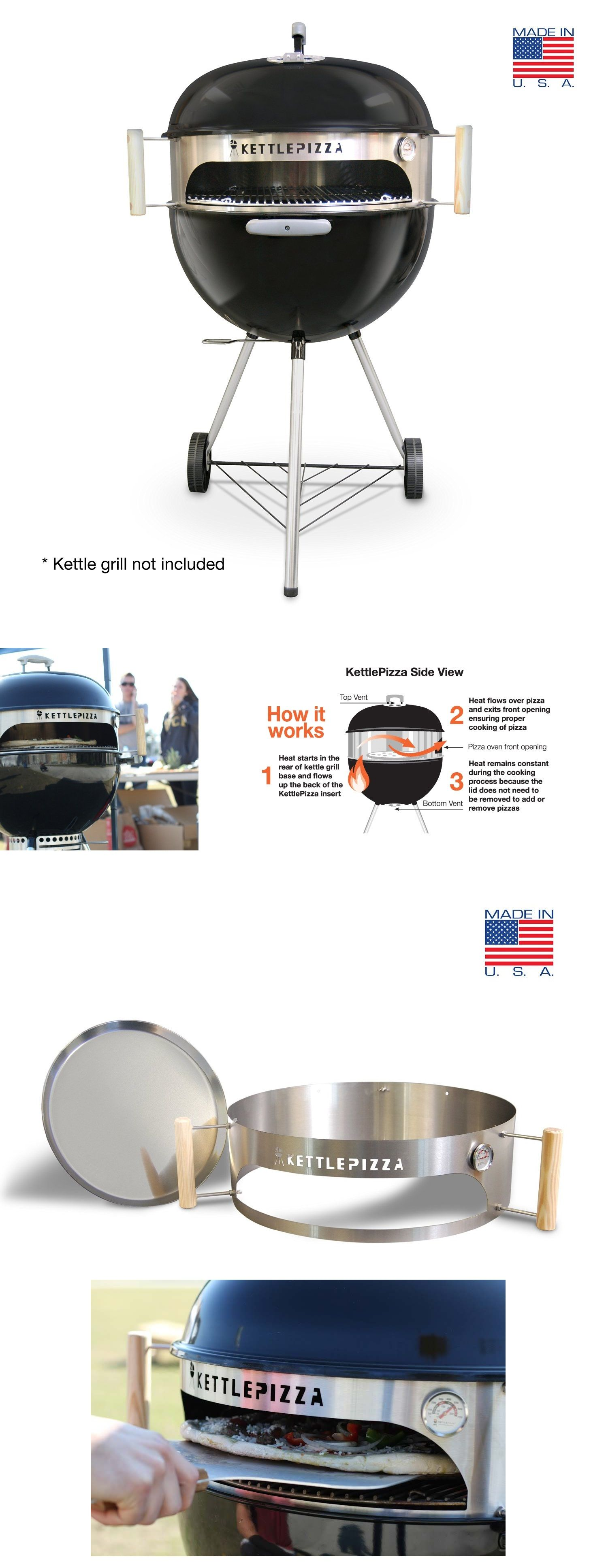 kettlepizza turns your weber charcoal grill into a pizza oven weber charcoal grill grilling. Black Bedroom Furniture Sets. Home Design Ideas