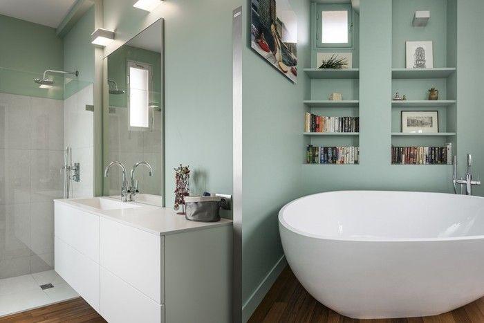 Bathroom Palette 5 Shades Of Green Salle De Bain Sdb Bains