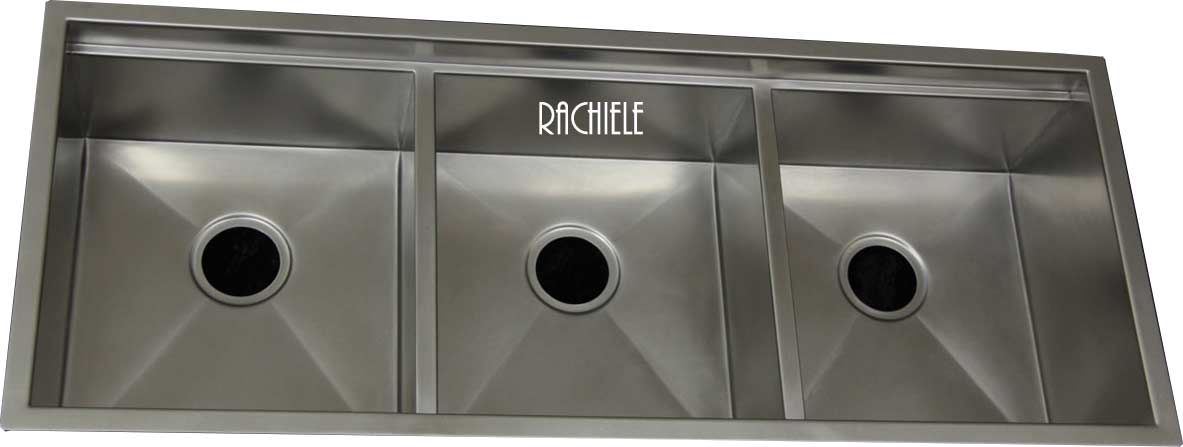 Large Triple Bowl Stainless Steel Sink By Rachiele Custom