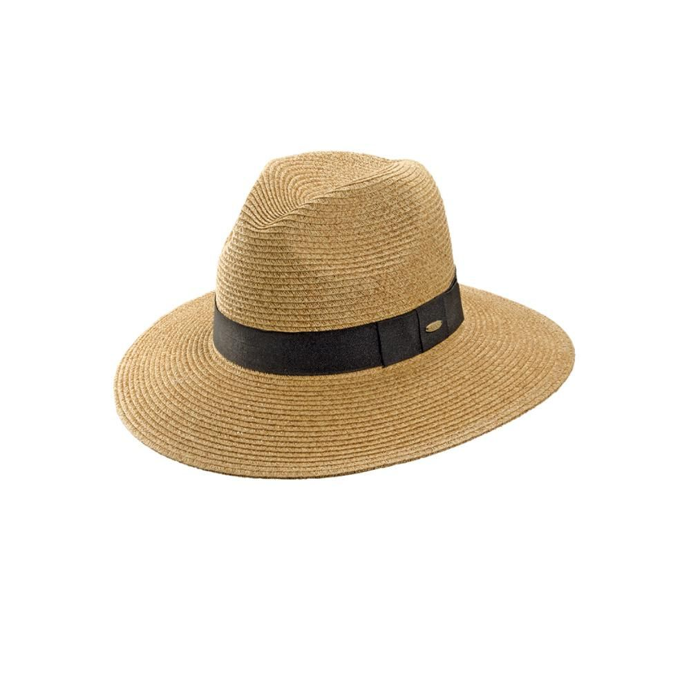 8f6fabcab704f Paper braided hats allow for maximum sun protection with minimal weight.  The women s fedora by Scala makes the thought of a summer Saturday that  much more ...