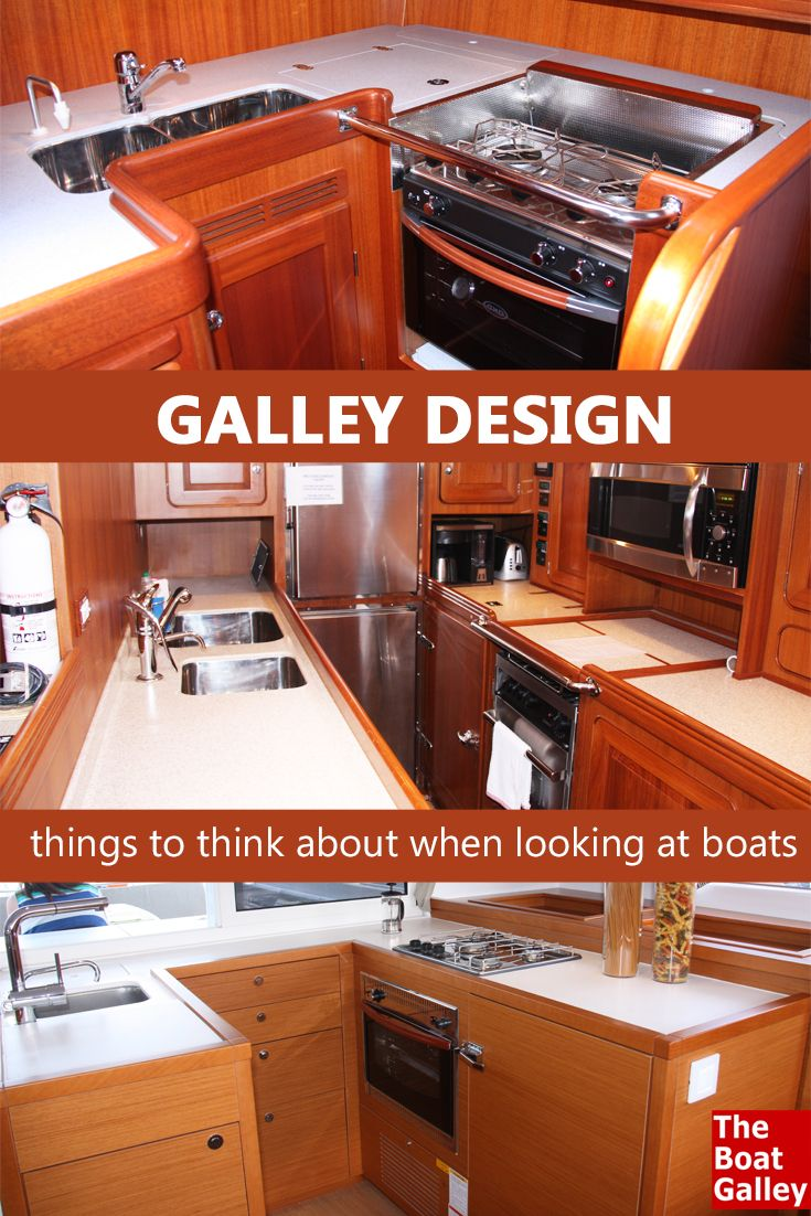 Galley Features To Look For When Buying A Boat The Boat Galley Boat Galley Buy A Boat Boat Interior
