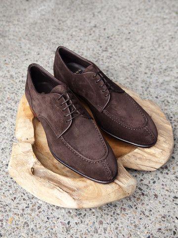 Brown Norwegian Split Toe Suede Derbys Carmina Shoemaker PkeKQJgH