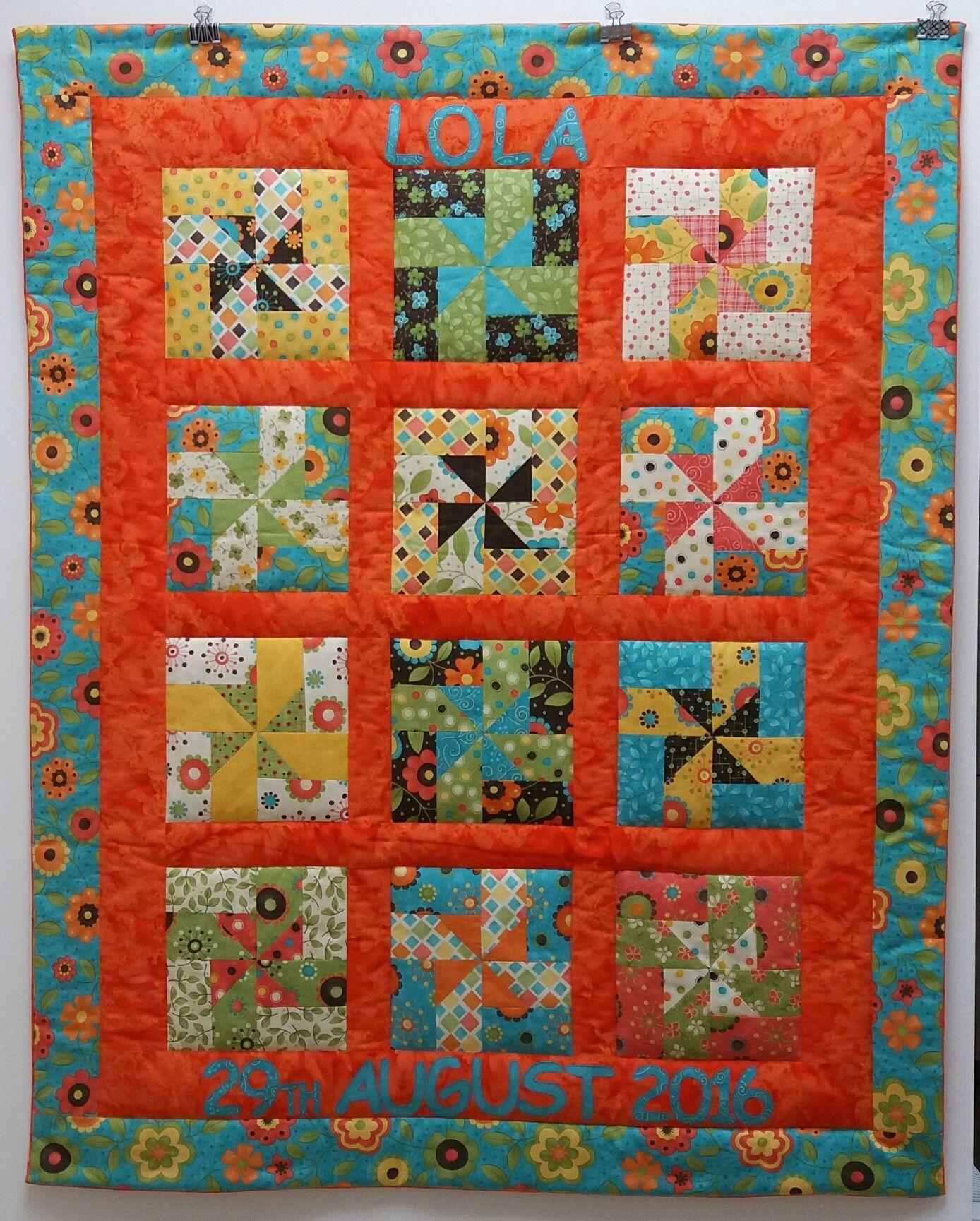 Custom-made, personalised Whirly Wheels Quilt | Custom Made Quilts ... : custom made quilts with pictures - Adamdwight.com