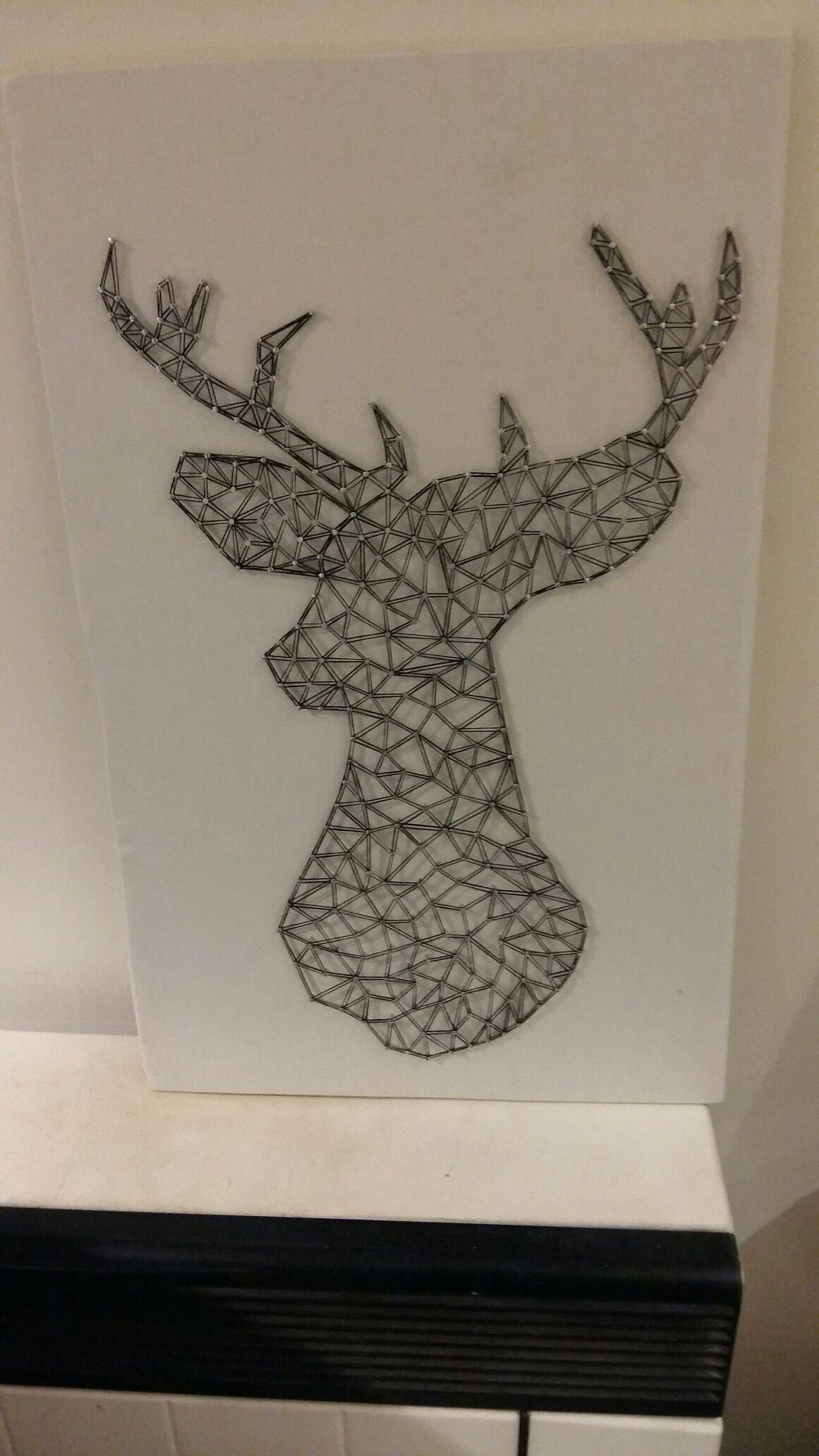 Wspaniały Obraz na płótnie przedstawiający głowę jelenia. Wykonany przy WL67