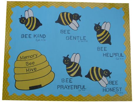 Art Education Daily Memory Bee Hive For Sunday School Find This Pin And More On Bulletin Board Ideas