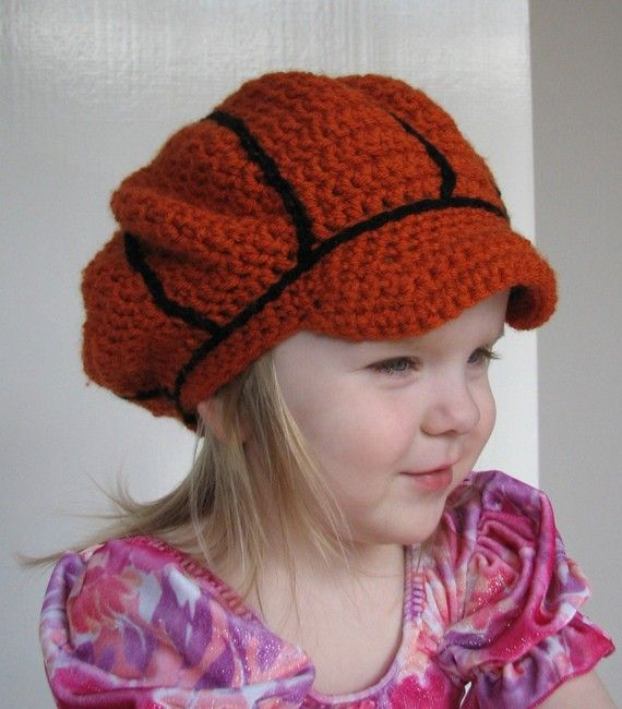 Child Basketball Tam Crochet Pattern Fits 2t To 5t With 3 Sizes