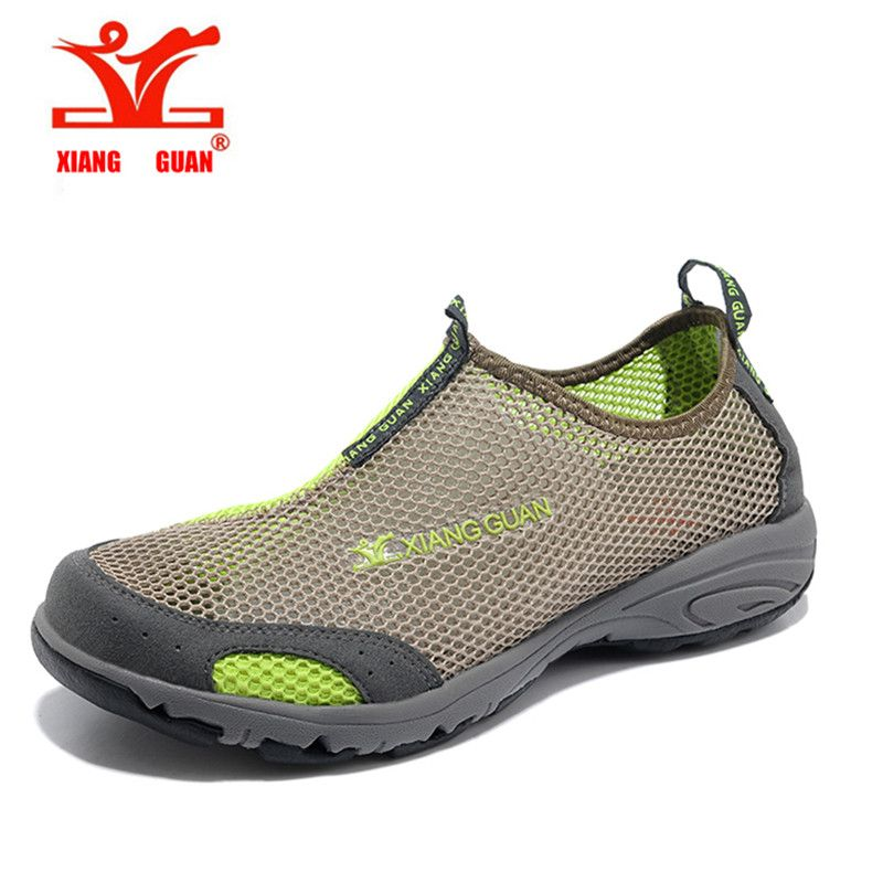 2016 XIANGGUAN Cheap Summer tourism Man Women Solid Hiking Shoes Outdoor Shoes Breathable Mesh Unisex Shoes Light comfortable
