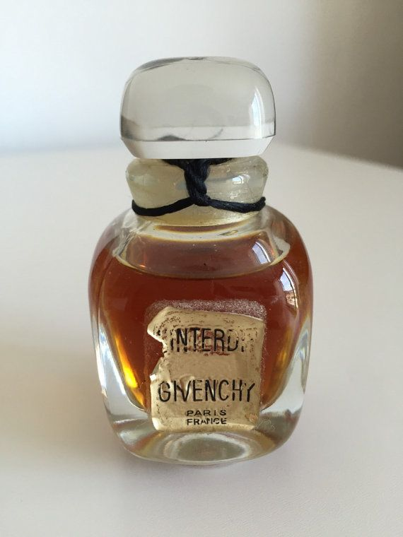 Unpened Givenchy L'Interdit 1oz French Perfume Crystal ...