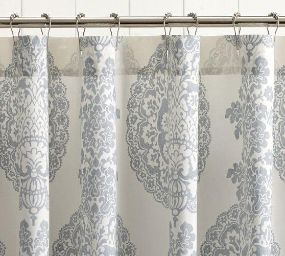 Lucianna Medallion Shower Curtain Bathroom Shabby Chic Shower