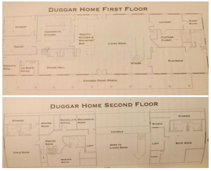 Duggar home floor plan 19 Kids and Counting