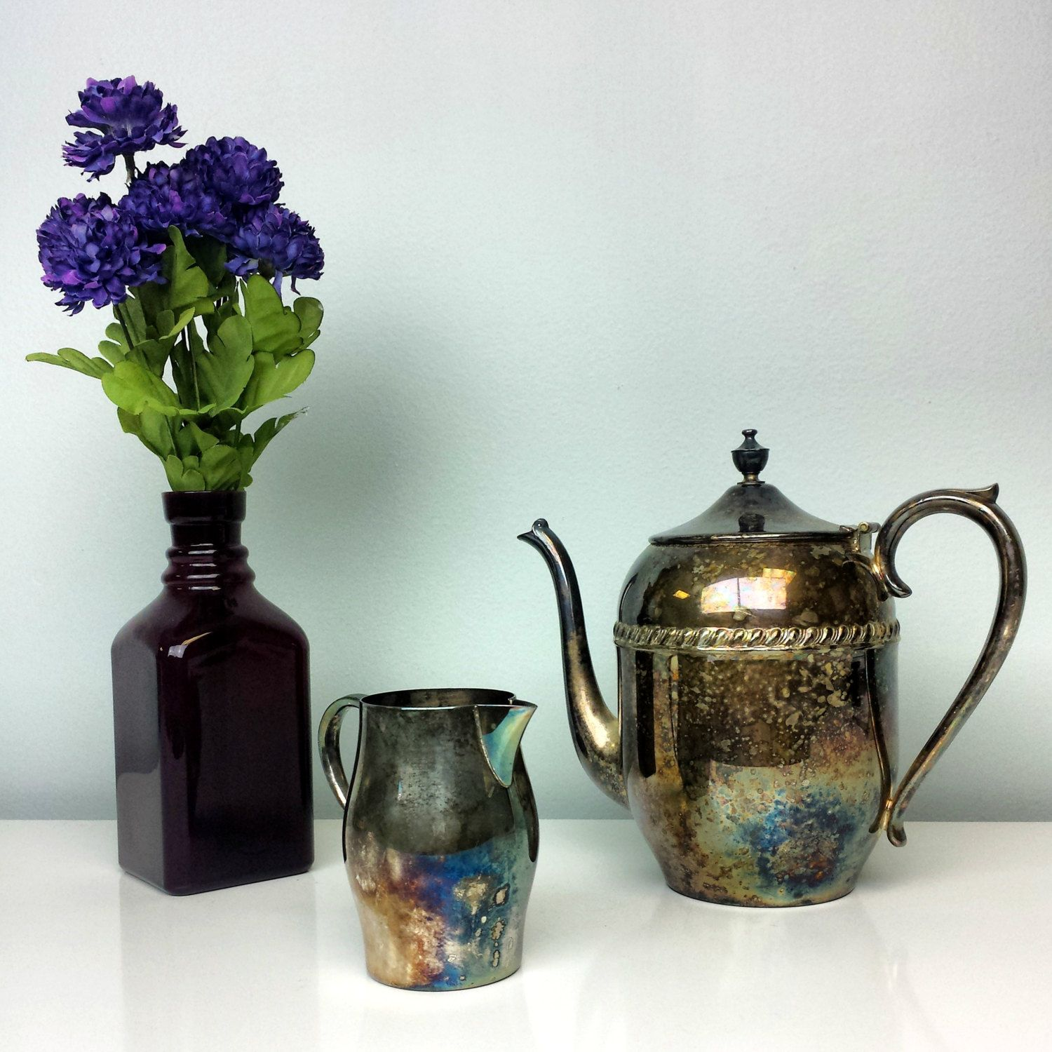 how to patina copper purple