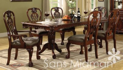 NEW Furniture! 7 pc Brunswick Formal Dining Room Set, Includes Table