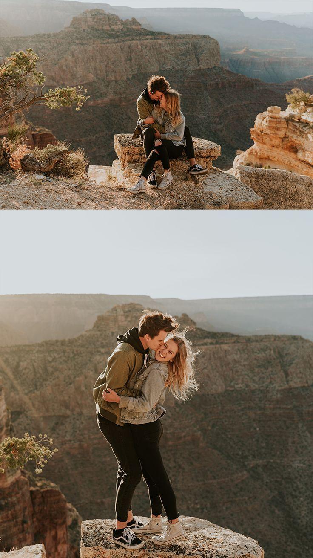 Grand Canyon Couples Engagements - @carrierogersphotography - Arizona Wedding Photographer - Adventure Session #adventure #couples #photography #couplesphotography #adventurouscouples #engagementphotos #thatsdarling #dirtybootsandmessyhair