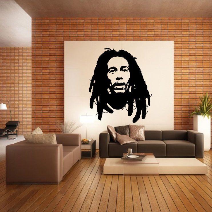 Masculine Bob Marley Wall Decor Inspiration In Sweet Cream And Grey Color Schemed Home Interior Design Luxury Bob Bob Marley Wall Decor Vinyl Decor Bob Marley