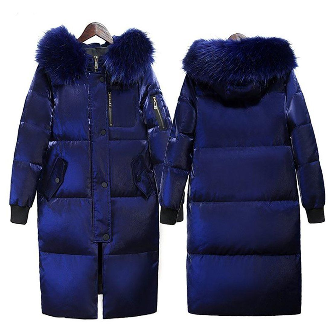Winter  Women Fur Collar Long Down Jacket Thicken Coat Hooded Parkas Coat lot