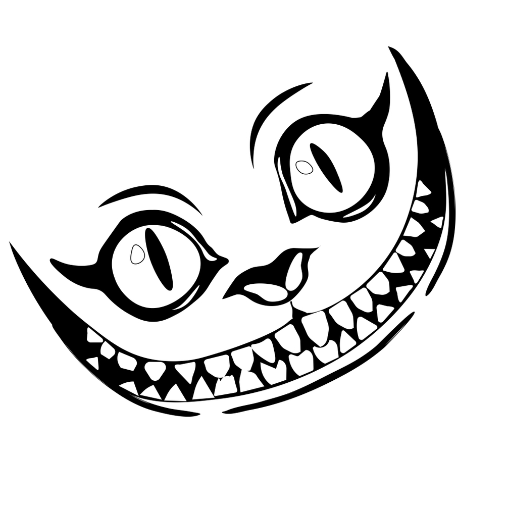 40+ Cheshire cat clipart black and white information