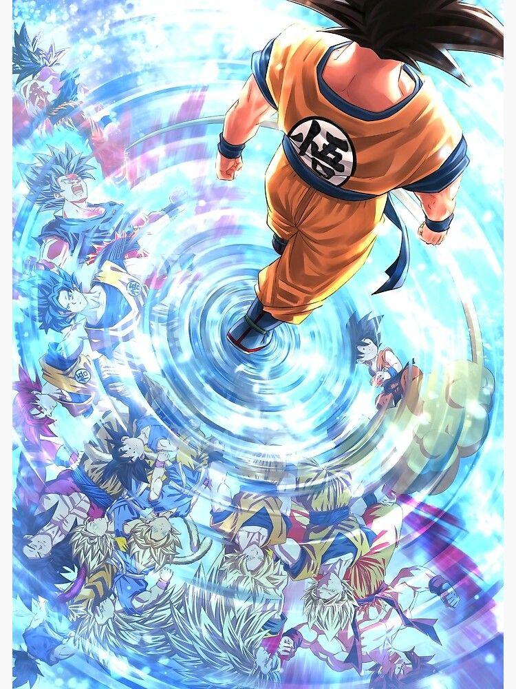 Goku Evolution Metal Print by terpres