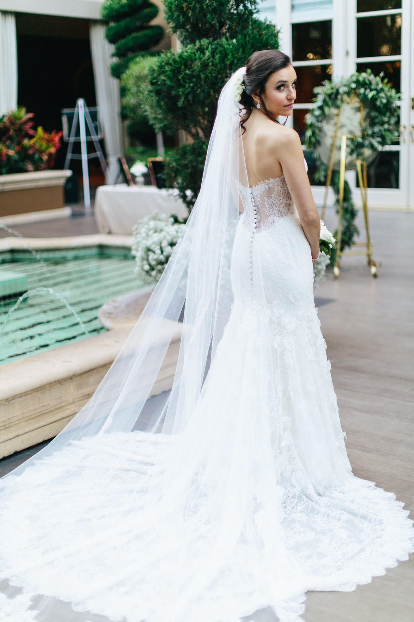 Lace wedding dress low back  JINZA Bridal