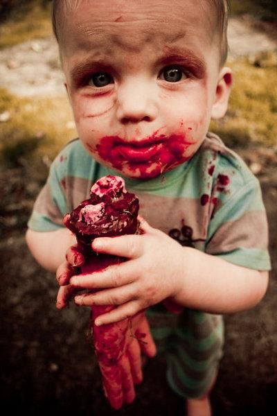 Zombie Baby. Gross and funny!
