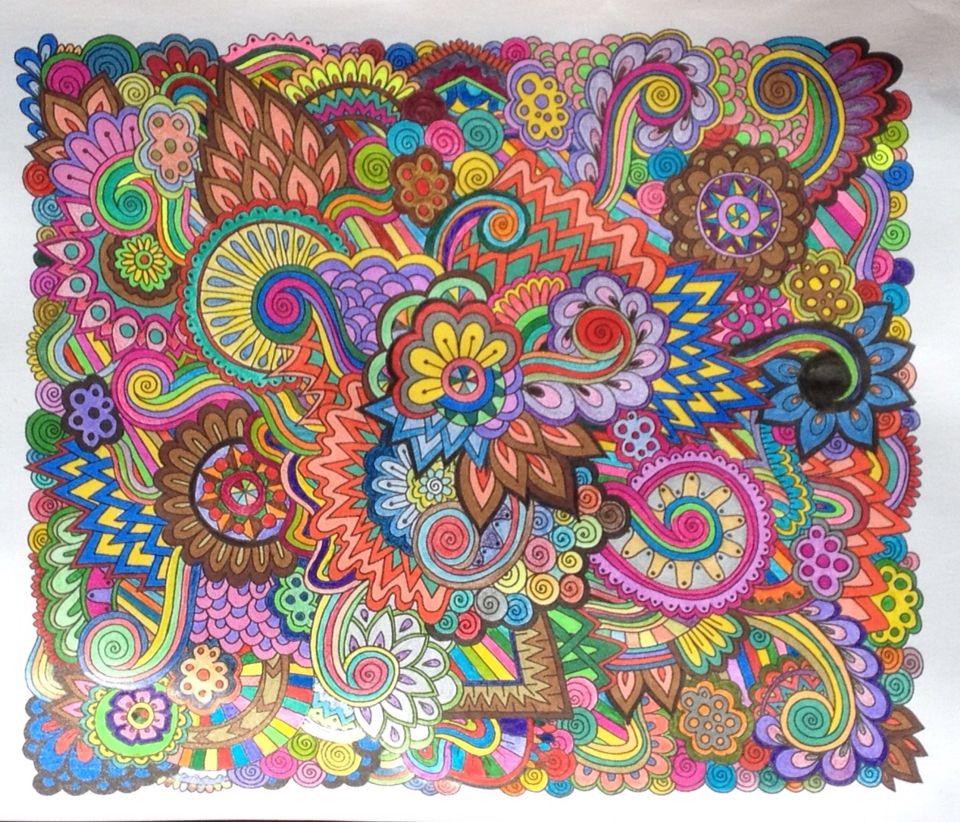 Zendoodle Enchanting Gardens Kkh Art Zen Doodle Paisley Color