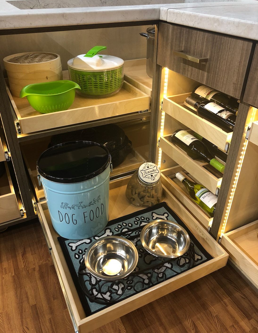 Our Shelfgenie Designers Create A Design That Is Perfect For You This Glide Out Tray Ho Kitchen Space Savers Small Kitchen Space Savers Small Kitchen Cabinets Space saver kitchen island
