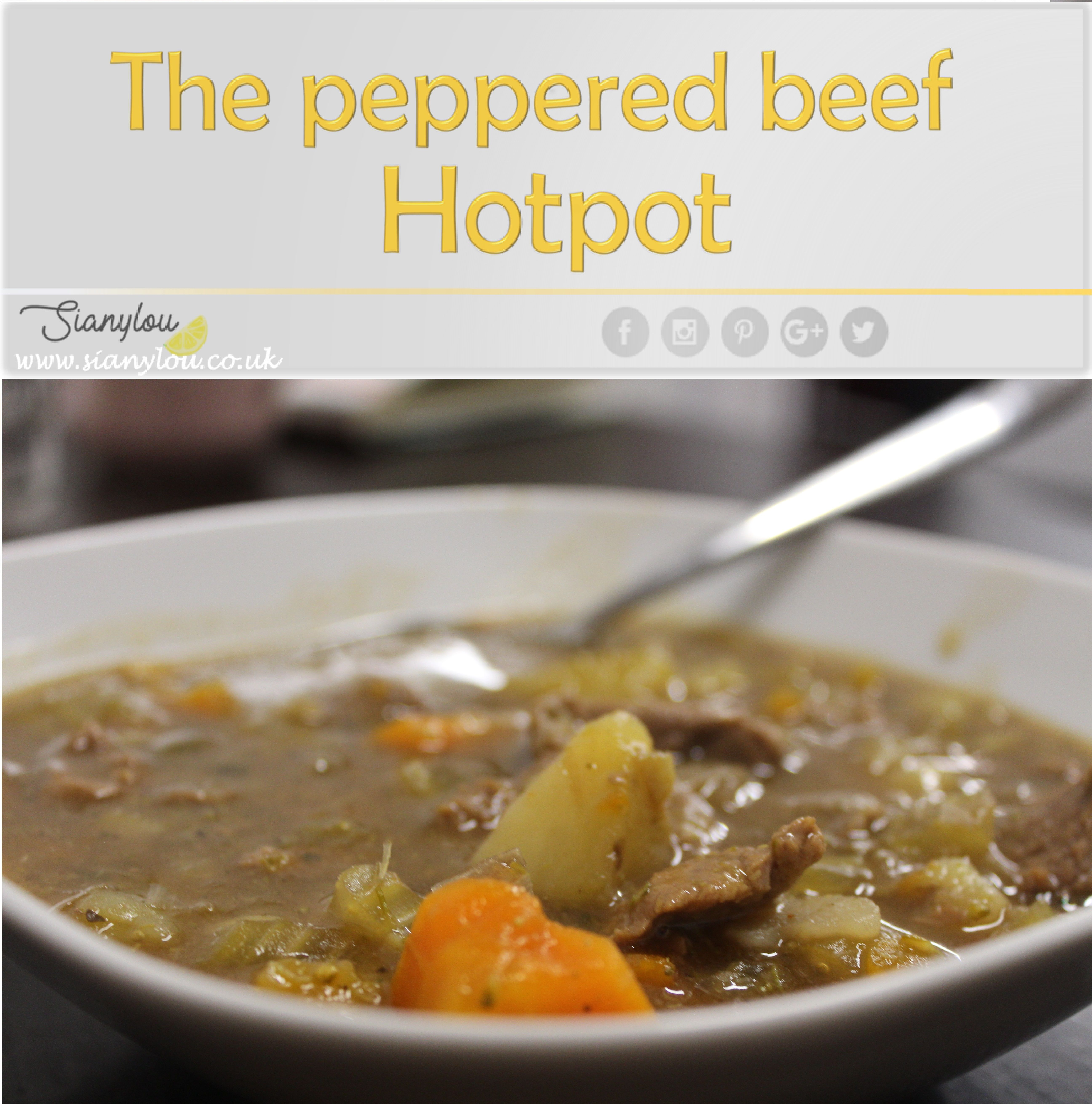 The peppered beef hotpot Beef hotpot, Easy meals, Food