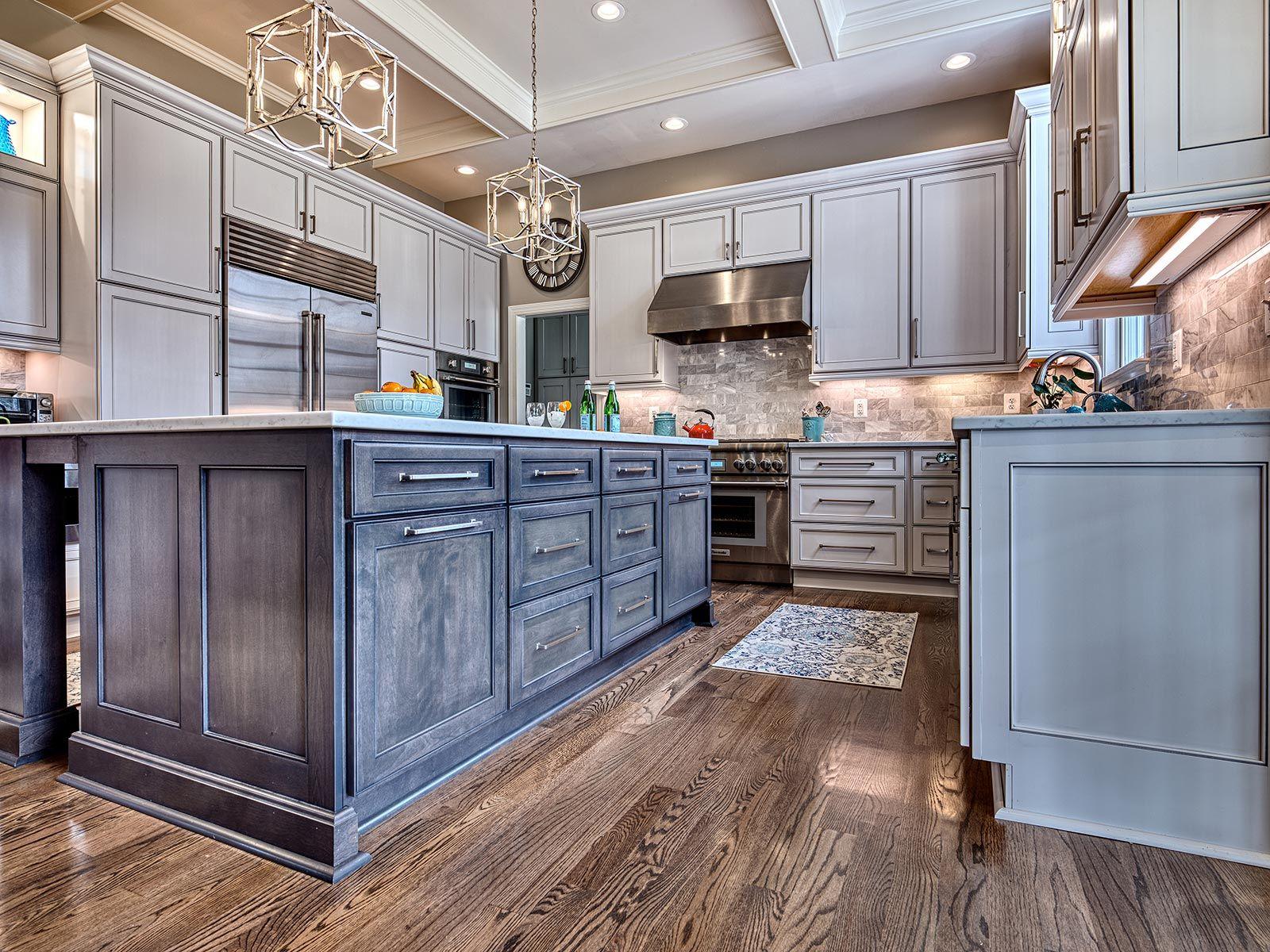 Fabulous Malibu Two Tone Kitchen Two Tone Kitchen Grey Kitchen Designs Custom Kitchen Cabinets