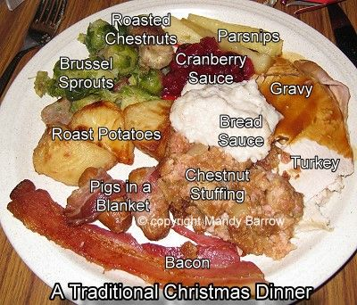 Image result for traditonal uk christmas dinner""