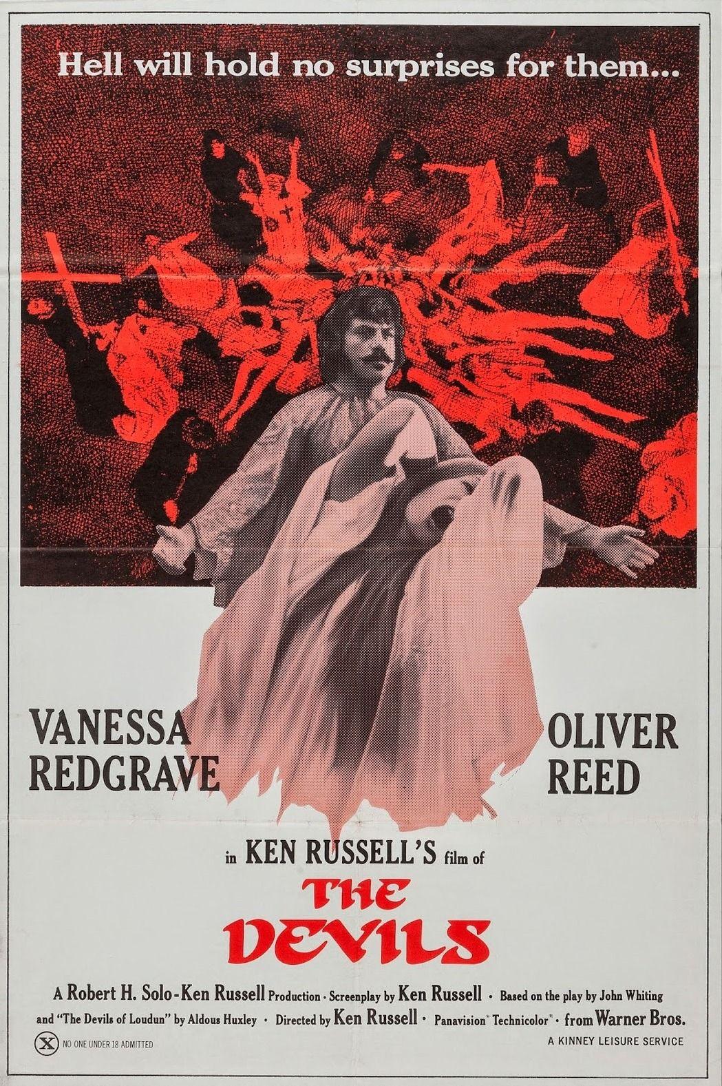The Devils 1971 Ken Russell Movie Posters Vintage Best Movie Posters