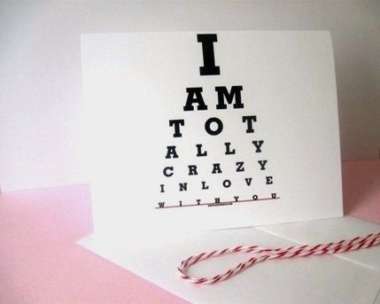 Valentine Card-I am Totally Crazy in Love with You-handmade  I Love You card. $4.25, via Etsy.