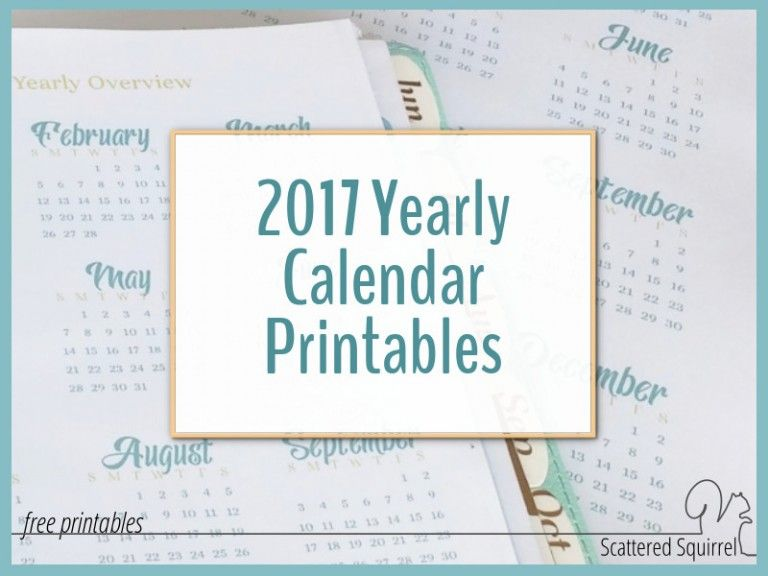2017 Yearly Calendar Printables are Here 2017 yearly calendar