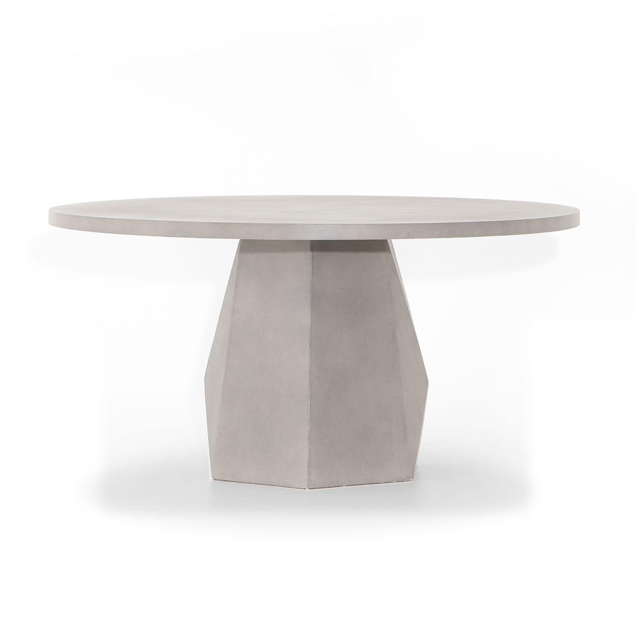 Laguna Concrete Outdoor Round Dining Table Modern Outdoor Dining Table Round Outdoor Dining Table Round Dining [ 1280 x 1280 Pixel ]