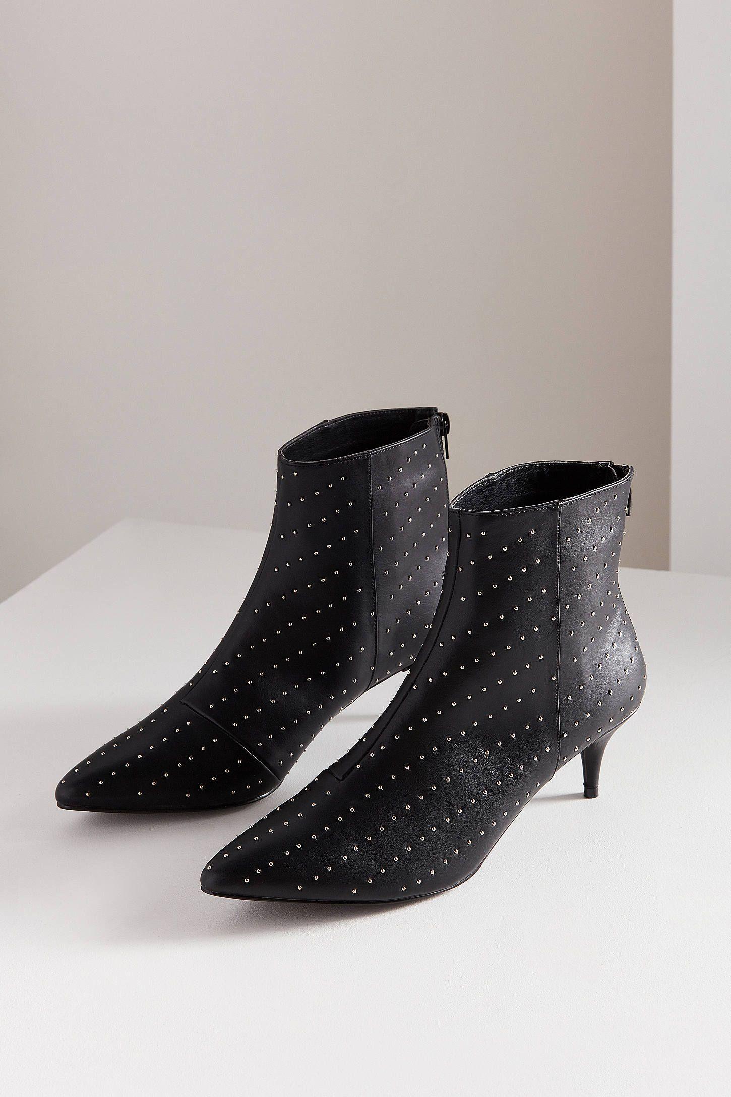 Jules Studded Kitten Heel Ankle Boot Kitten Heel Ankle Boots Black Ankle Boots Ankle Boot