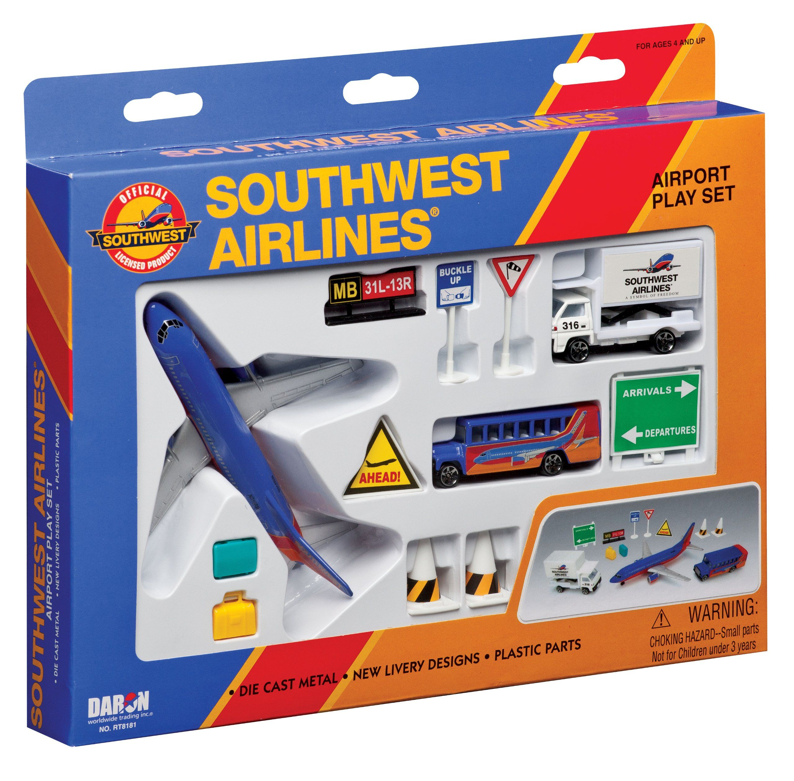 Daron southwest airlines airport playset toys