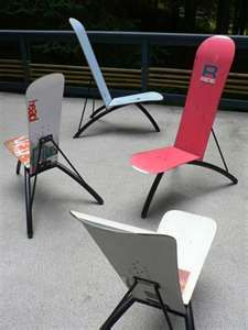 snowboard chair these are sick snowboard shred in 2019 skateboard furniture snowboarding. Black Bedroom Furniture Sets. Home Design Ideas
