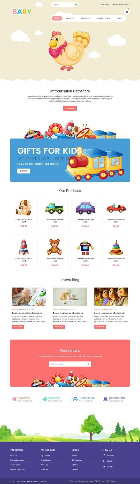 Toys for kids logo  Baby Store HTML Template baby baby kids baby shop baby